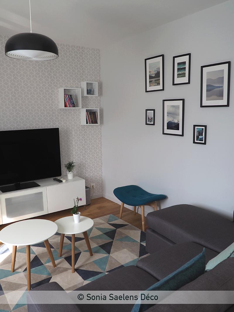 Inspiration scandinave dans une pièce à vivre